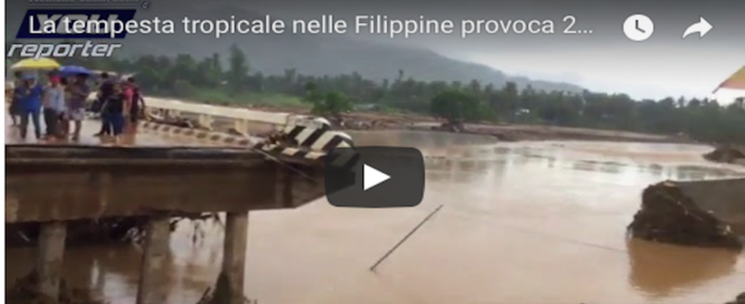 Apocalisse nelle Filippine, 99 morti e 15.000 sfollati per una tempesta tropicale (Video)