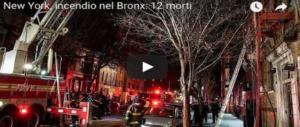Incendio nel Bronx: le fiamme partite da una stufa con cui giocava un bambino (VIDEO)