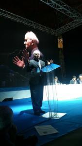 Il saluto del presidente della Fondazione An, Giuseppe Valentino