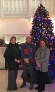 Il presidente del Circolo Montecitorio con le organizzatrici