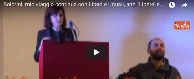 Boldrini aderisce a Liberi e Uguali: ma che sorpresa, signora presidente! (video)