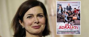 """Anche il film """"Gli sdraiati"""" sbeffeggia la Boldrini. E Serra molla la sinistra snob"""