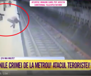 Terrore a Bucarest: squilibrata spinge una donna sotto un vagone della metro (video)