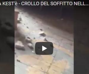 """Sos Reggia di Caserta, crolla l'intonaco nella """"stanza delle dame"""" (VIDEO)"""