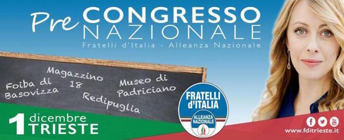 Congresso FdI, 4000 delegati. Interverranno anche Musumeci, Brunetta e Fedriga