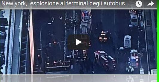 ***FLASH***Esplosione a New York vicino Time Square: un arresto e diversi feriti