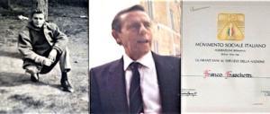 Franco Fraschetti, che scappò di casa a 16 anni per arruolarsi nella Rsi