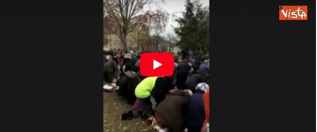 Gerusalemme, la protesta islamica arriva sotto la Casa Bianca (video)