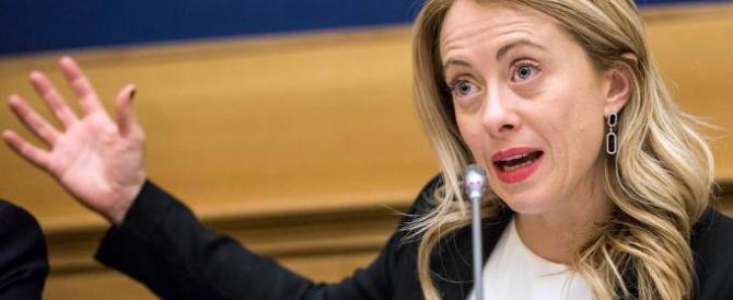 """Giorgia Meloni: """"Il nome del premier deve essere sul piatto prima del voto"""""""