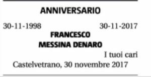 Il necrologio pubblicato sul Giornale di Sicilia