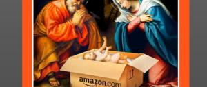 Il presepe blasfemo dello Spiegel: Gesù nella scatola di Amazon