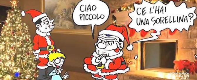 """La vignetta pedofila su Berlusconi: a """"L'aria che tira"""" il peggiore Vauro"""