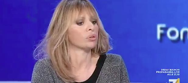 Alssandra Mussolini furibonda con Gene Gnocchi: «Sei un verme» (video)