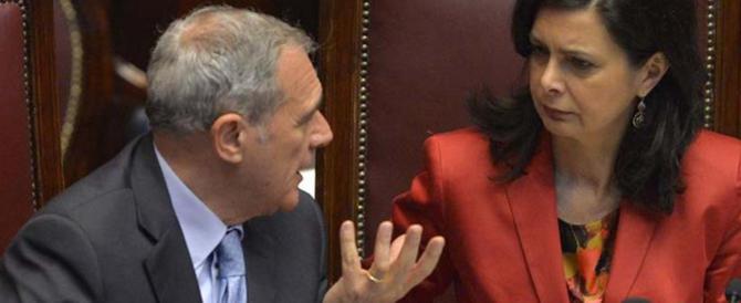 """E' già rissa a sinistra, Grasso zittisce la Boldrini: """"Non decide lei…"""""""