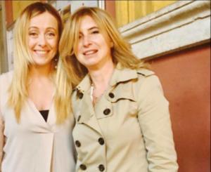 L'avvocato Susanna Campione con Giorgia Meloni