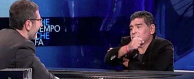 Criticò e fece il gesto dell'ombrello a Equitalia da Fazio, assolto Maradona (video)