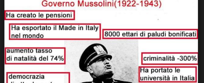 «Mussolini ha fatto grandi cose». Poi l'Anpi costringe il consigliere a scusarsi…