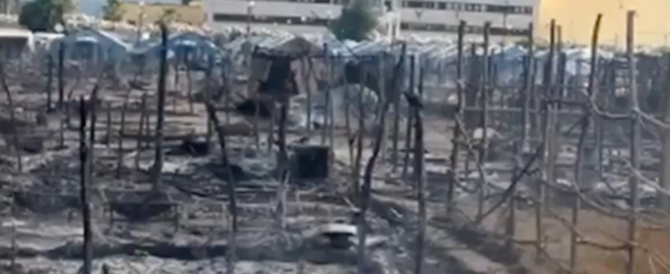 Calabria, ancora un incendio nella tendopoli di migranti: 1 morto e 2 feriti