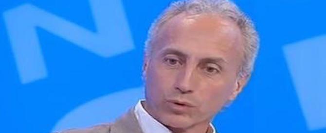 """«Vattene!», l'ira di Travaglio contro il socio del """"Fatto"""": o me o Berlusconi"""