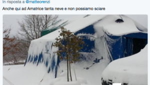 La replica a Renzi da Amatrice