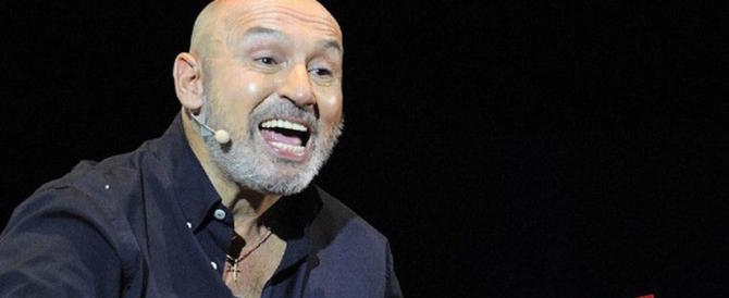 Battista a Gene Gnocchi: «Stai alla frutta, non fai ridere. Ora chiedi scusa» (video)
