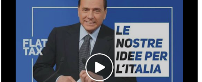 Berlusconi lancia la rivoluzione fiscale: «Ecco le tasse che cancelleremo» (video)