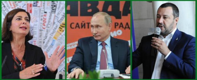 Laura Boldrini: «Salvini disgustoso, il suo eroe è Putin… figuriamoci»
