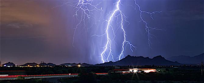 Maltempo, allerta temporali nel centrosud, con fulmini e grandinate