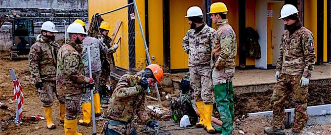 Operazione Sabina, il prezioso ruolo dell'Esercito nelle calamità naturali