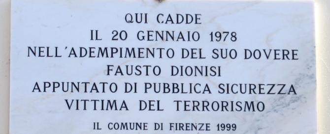 Firenze ricorda Fausto Dionisi, il poliziotto ucciso dai terroristi rossi