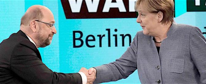 La Merkel fa il tifo per i socialisti tedeschi: dite sì alla Grosse Koalition