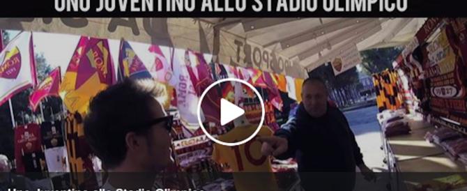 Uno juventino allo stadio Olimpico: ecco che cosa ha rischiato… (video)