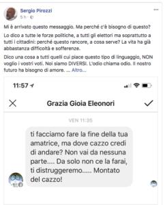Il testo postato da Pirozzi su Fb