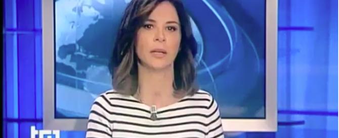 I colpi di tosse durante il servizio Tg1 mettono ko Micaela Palmieri (video)