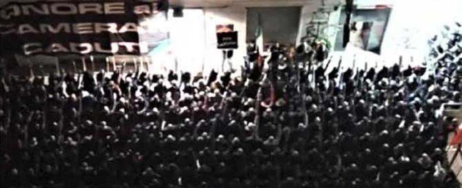 In migliaia al corteo silenzioso per i morti di Acca Larenzia (Video)