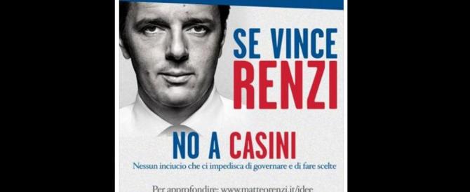 Da Etruria al seggio: il Pd candida Casini. Nonostante quel manifesto di Renzi…