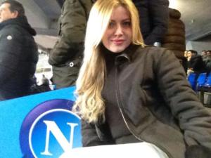 Simona Mangiante allo stadio per una partita del Napoli