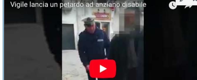 Bari, sospeso il vigile che ha lanciato petardo contro disabile (video)