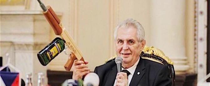 Repubblica Ceca: il testa Milos Zeman, il presidente anti-clandestini