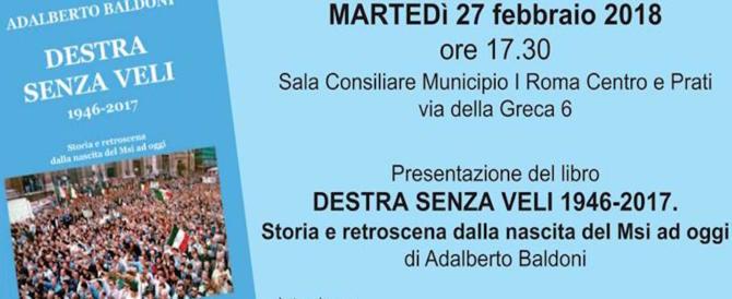 """A Roma si presenta """"Destra senza veli"""": 70 anni di storia italiana tra vittorie e delusioni"""