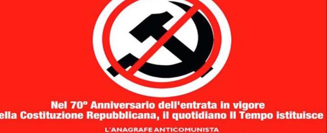 Il Tempo lancia l'anagrafe anticomunista in risposta alla farsa antifascista