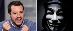 Terrorismo online contro Salvini: grave attacco di Anonymus ai siti della Lega