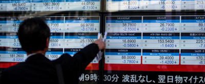 """Dopo il Wall Street """"crash"""" a picco anche le borse asiatiche e Piazza Affari"""