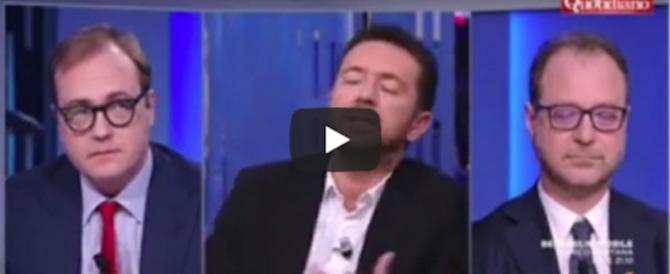 Cerno, da An a Renzi. E Scanzi lo ridicolizza: «Ma non denunciavi il Giglio nero?» (video)