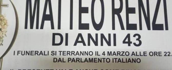 Pesante provocazione dei Cobas contro Renzi: «Morirà il 4 marzo»