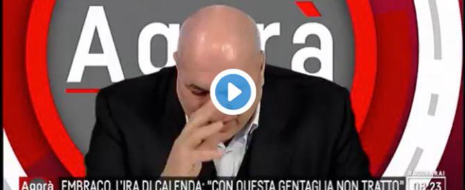 FdI, il pianto di Guido Crosetto in tv: «Su quei licenziati…» (video)