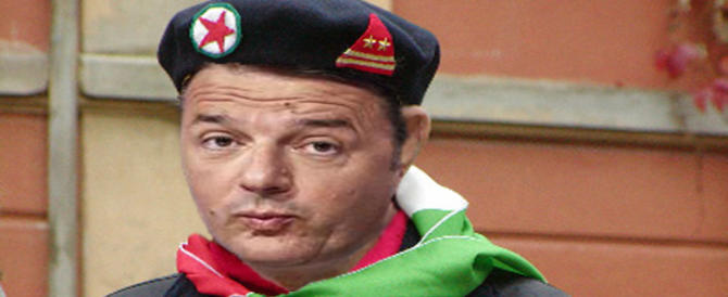 Renzi disperato: va in pellegrinaggio a Stazzema e si iscrive all'anagrafe antifascista