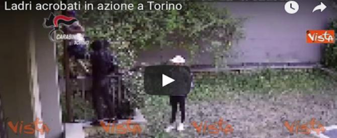 Torino, ladri acrobatici scalano un palazzo dalla canna fumaria: beccati in azione (Video)
