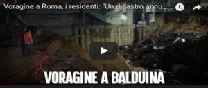 Voragine alla Balduina, l'ira dei residenti: il Comune sapeva e ci ha ignorato (Video)