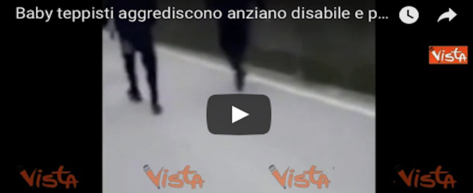 Filmano e postano su Fb l'aggressione a un anziano disabile: fermati 5 minori (Video)